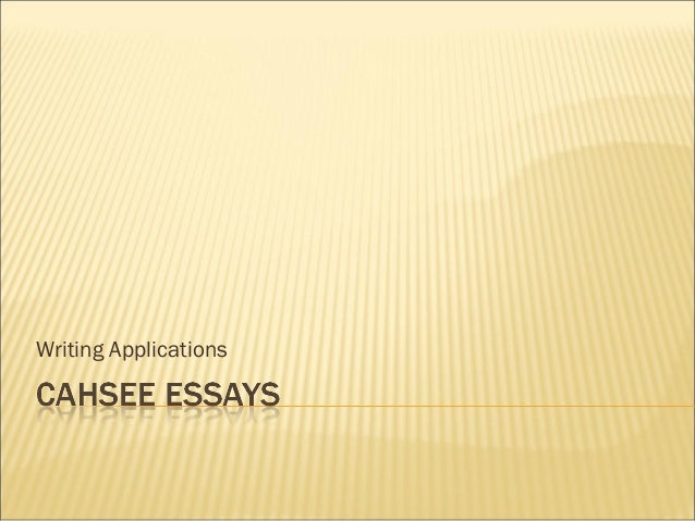 cahsee essays introduction