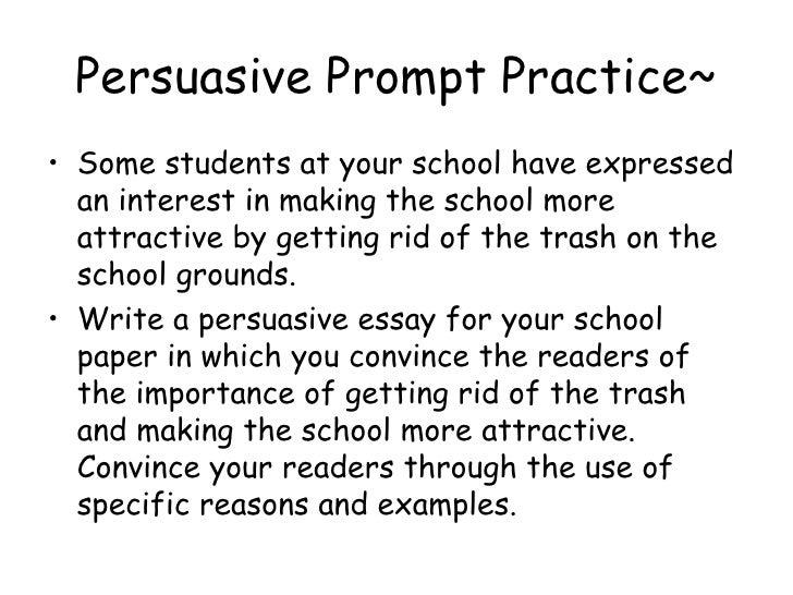 Cahsee practice persuasive essay