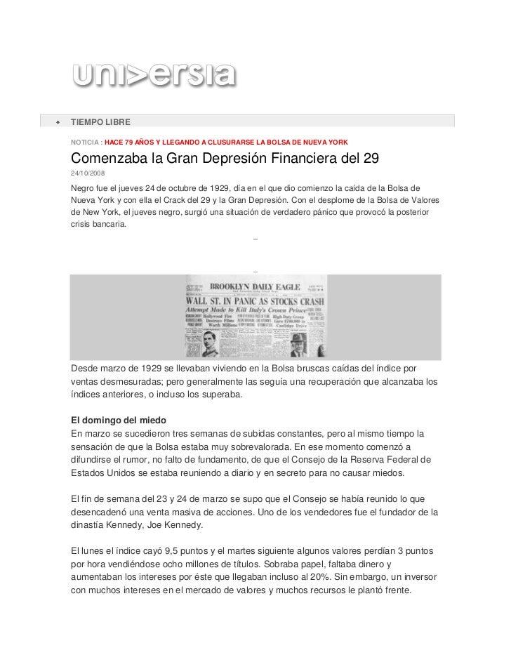 ESPAÑA: NoticiasEspañaNoticiasVida UniversitariaTIEMPO LIBRENOTICIA : HACE 79 AÑOS Y LLEGANDO A CLUSURARSE LA BOLSA DE NUE...