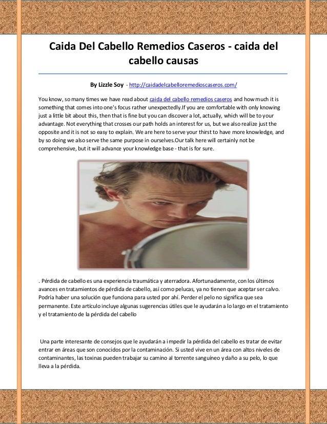 Caida Del Cabello Remedios Caseros - caida del                    cabello causas__________________________________________...