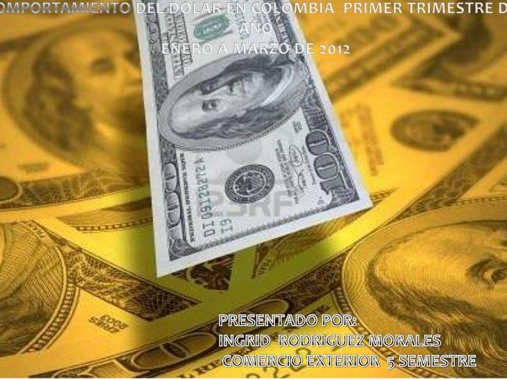 Caida del dolar