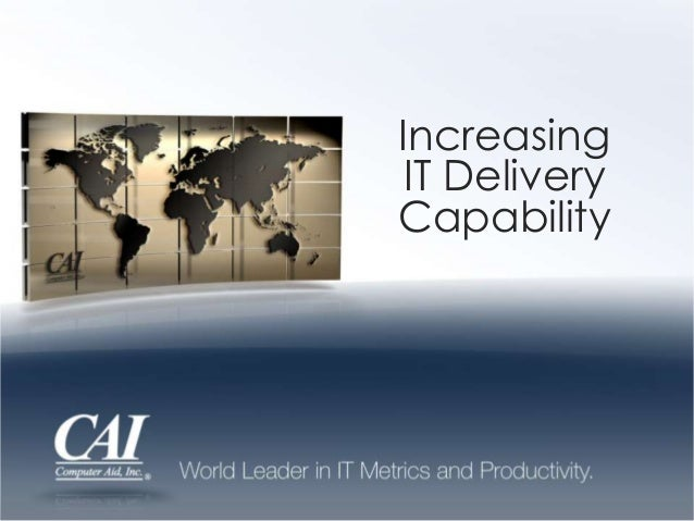Increasing IT Delivery Capability