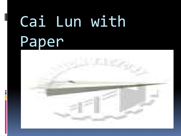 Cai Lun with Paper<br />