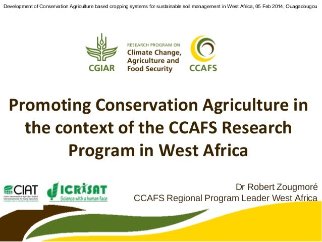 Conservation agriculture in the context of climate change in West Africa