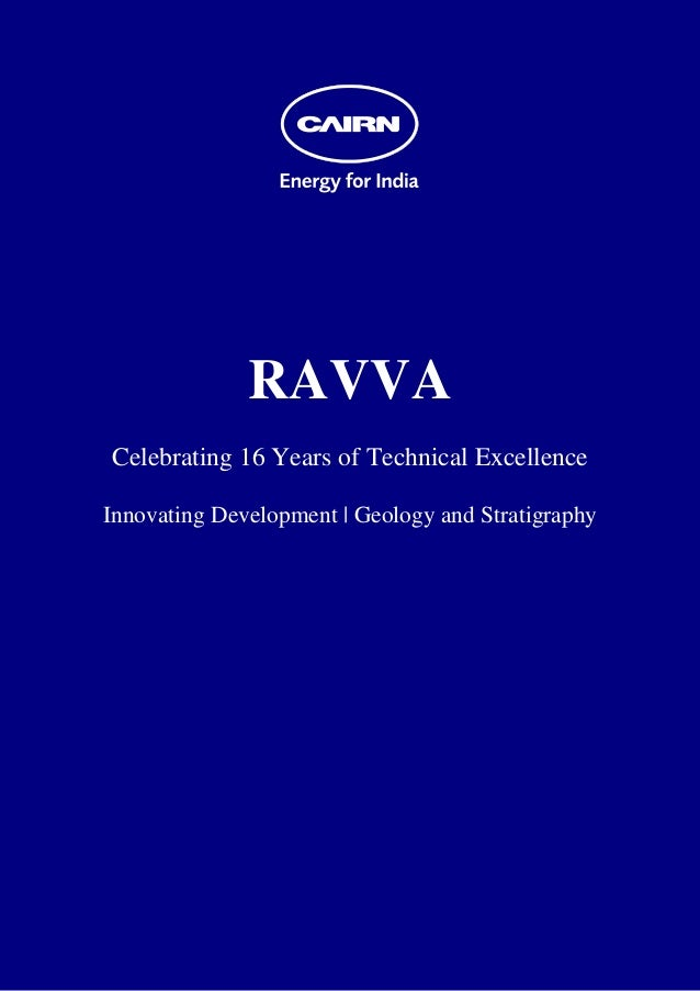 RAVVA Celebrating 16 Years of Technical Excellence Innovating Development | Geology and Stratigr...
