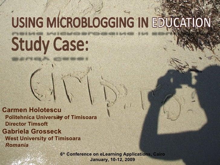 Using microblogging in education. Case study: Cirip.ro