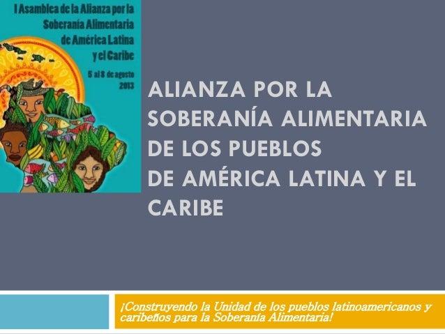 Alianza de los pueblos por la Soberanía Alimentaria