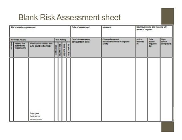 Blank Risk Assessment Form Printable Editable Blank Calendar 2017 – Sample Risk Assessment Form