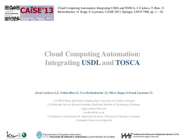 Cloud Computing Automation: Integrating USDL and TOSCA