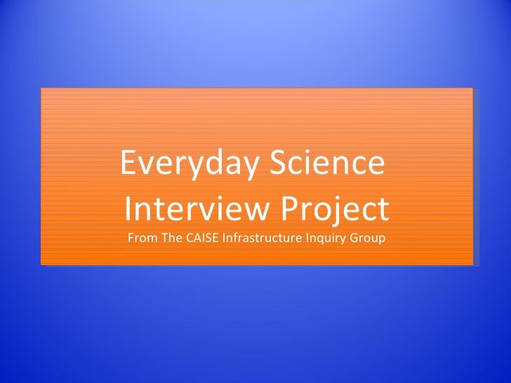 CAISE ISE Infrastructure Interview Overview