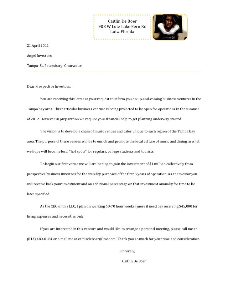 21 April 2011Angel Investors Tampa- St. Petersburg- ClearwaterDear Prospective Investors,You are receiving this letter at ...
