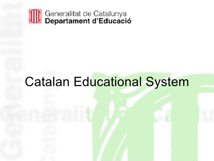 Catalan Educational System
