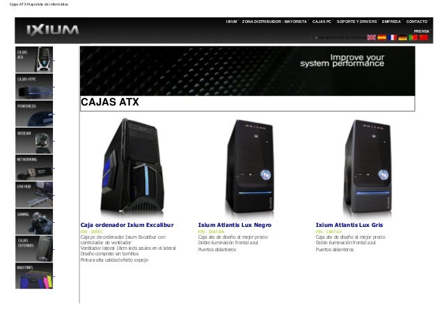 Cajas ATX Mayorista de informática                                                                                        ...