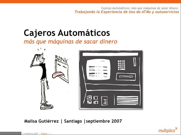 Cajeros Automáticos (Malisa Gutierrez)