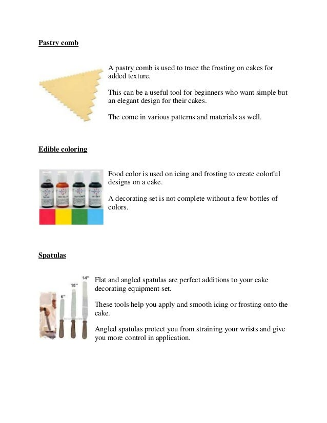 Cake Decorating Equipment Basic Tools You Really Need
