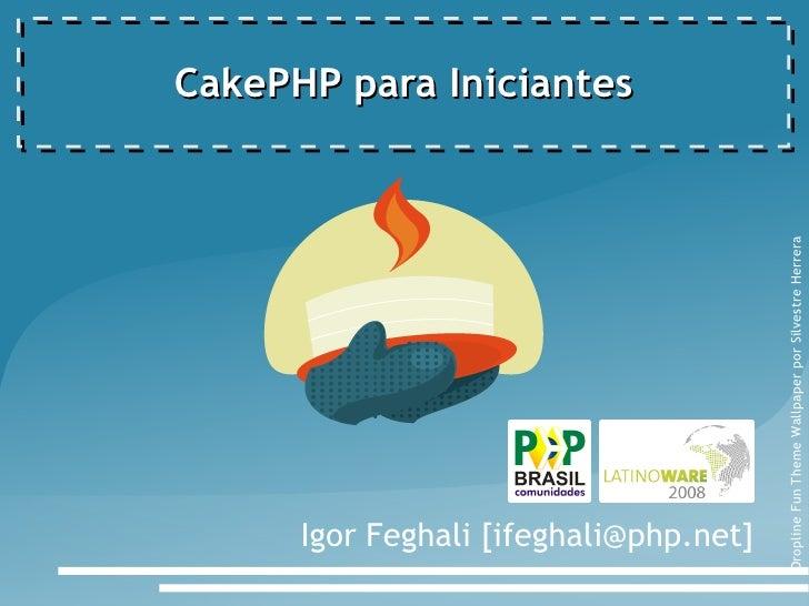 CakePHP para iniciantes