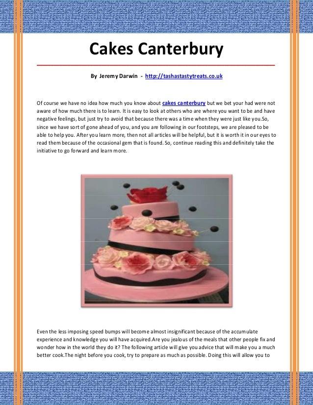 Cakes canterbury