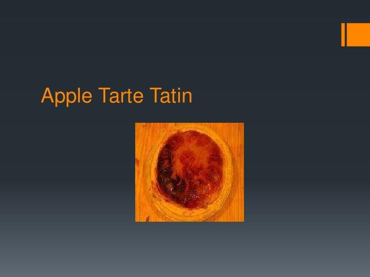 Apple TarteTatin<br />