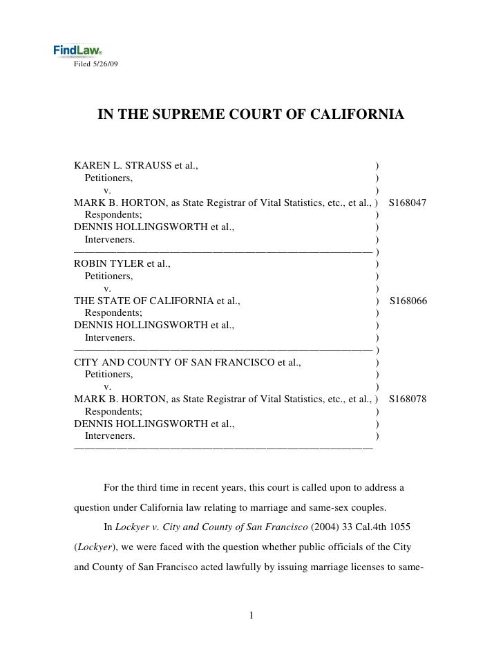FindLaw : Cal Prop. 8 Decision