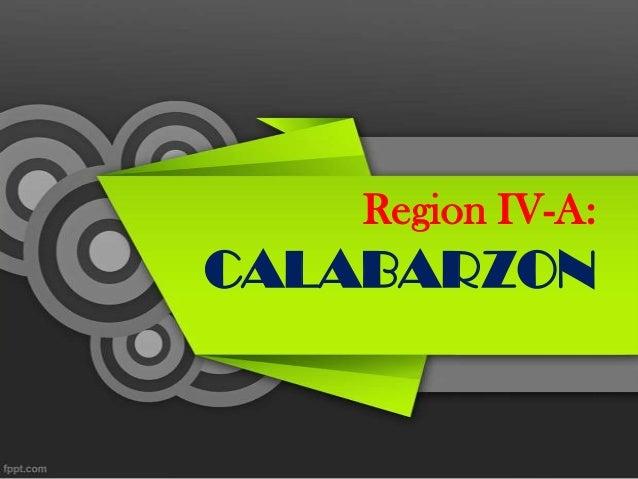 Region IV-A: CALABARZON