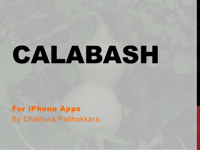 Calabash for iPhone apps
