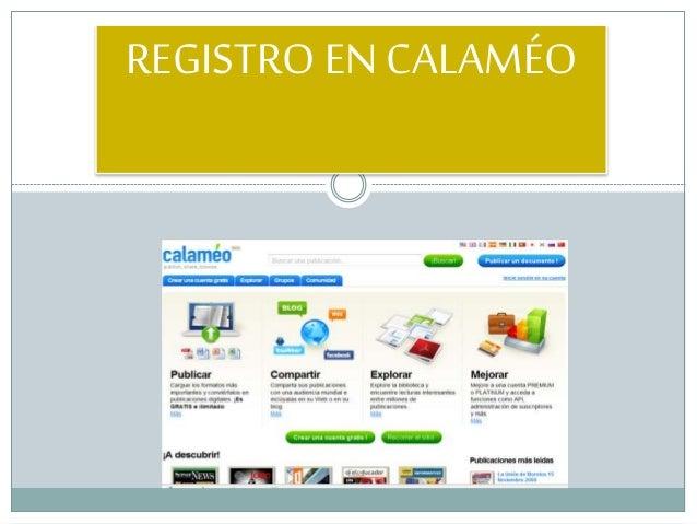 REGISTRO EN CALAMÉO