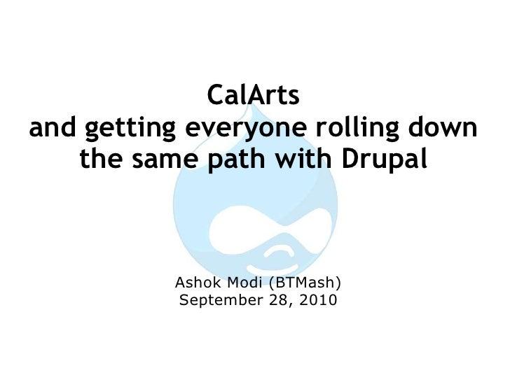 CalArts presentation