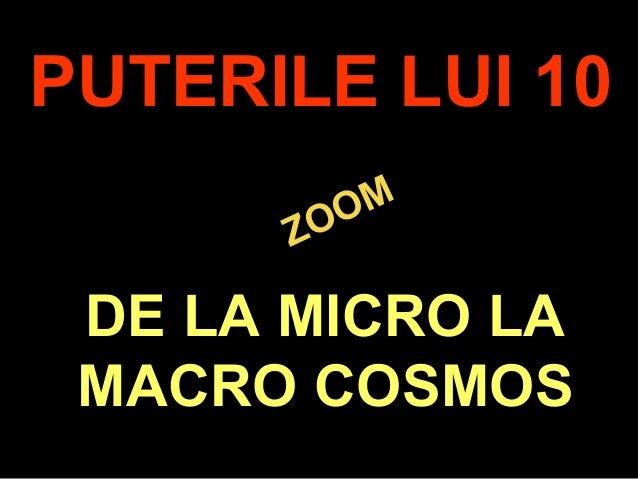 .ZOOMZOOMPUTERILE LUI 10DE LA MICRO LAMACRO COSMOS