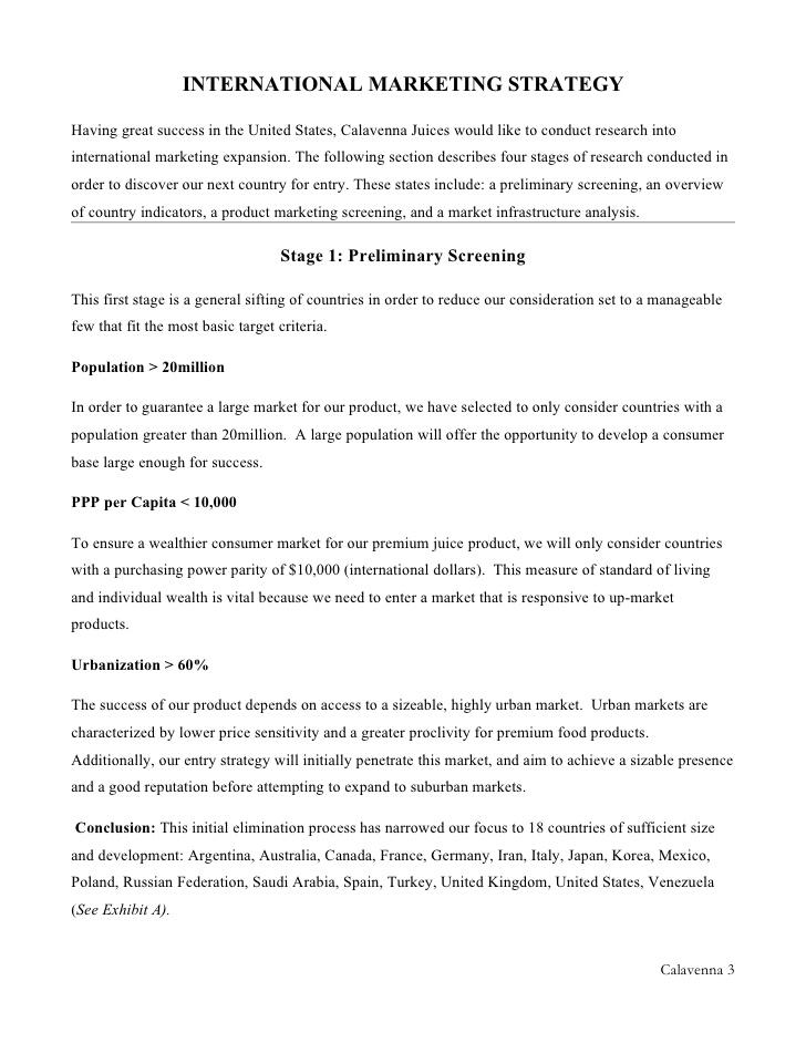 international market expansion essay Writing revision essays for international marketing essay 5: international market segmentation essay 3: global expansion.