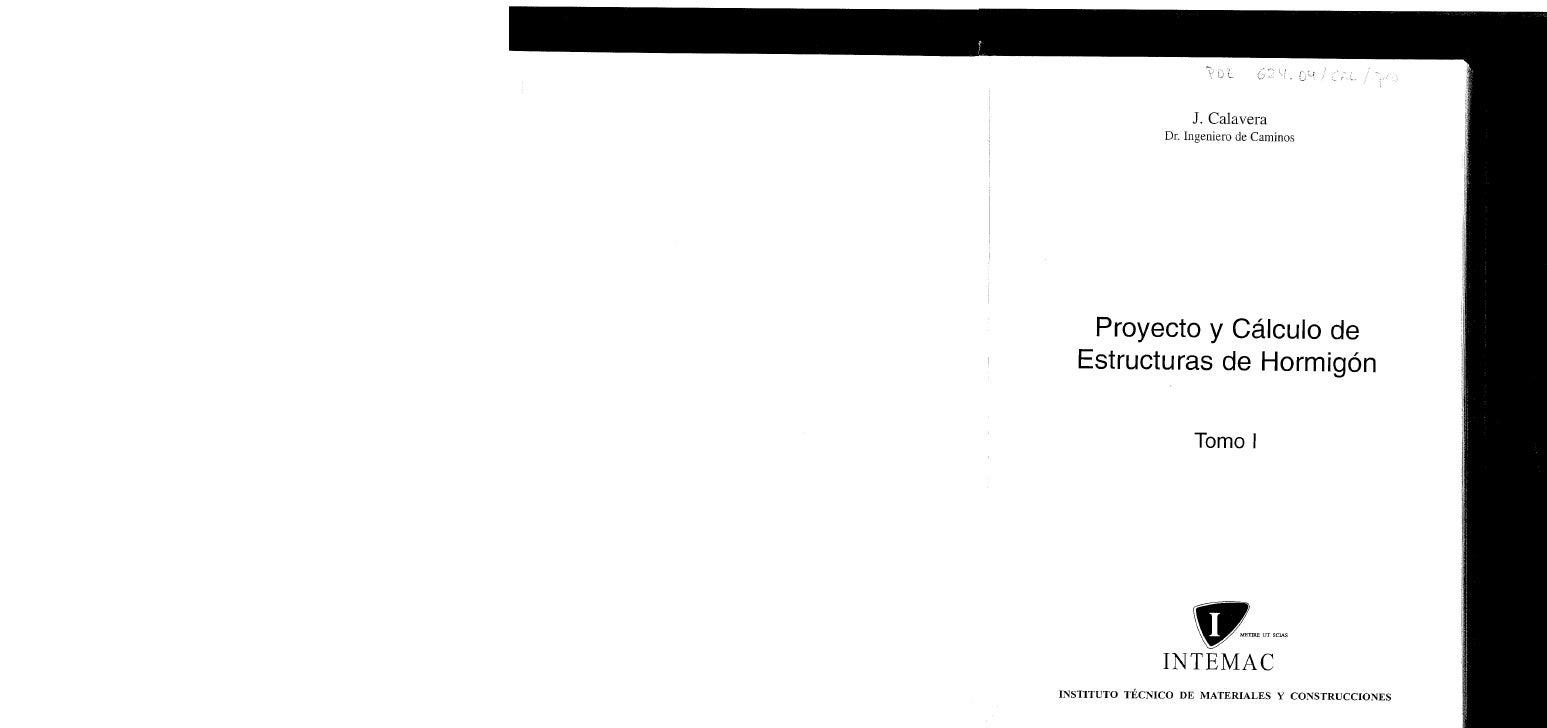 Calavera   Proyecto Y CáLculo De Estructuras De HormigóN Tomo I