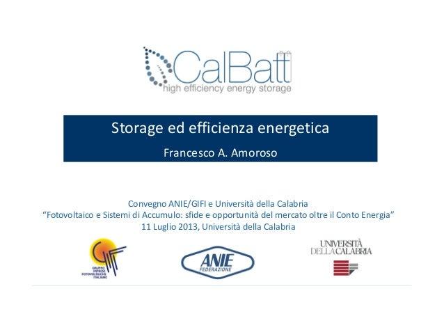 """Convegno ANIE/GIFI e Università della Calabria """"Fotovoltaico e Sistemi di Accumulo: sfide e opportunità del mercato oltre ..."""