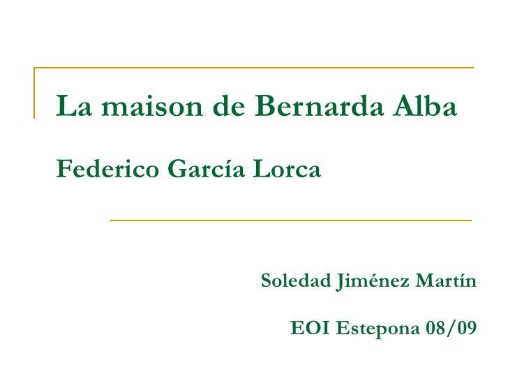 Cal Bernarda Alba