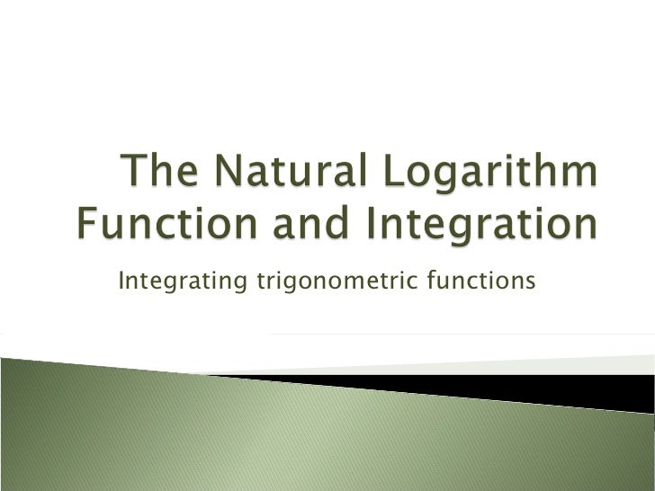 Integrating trigonometric functions