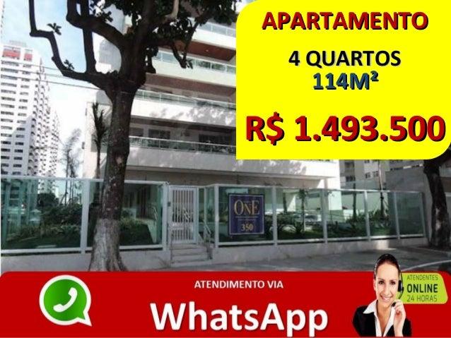 APARTAMENTOAPARTAMENTO 4 QUARTOS4 QUARTOS 114M²114M² R$ 1.493.500R$ 1.493.500