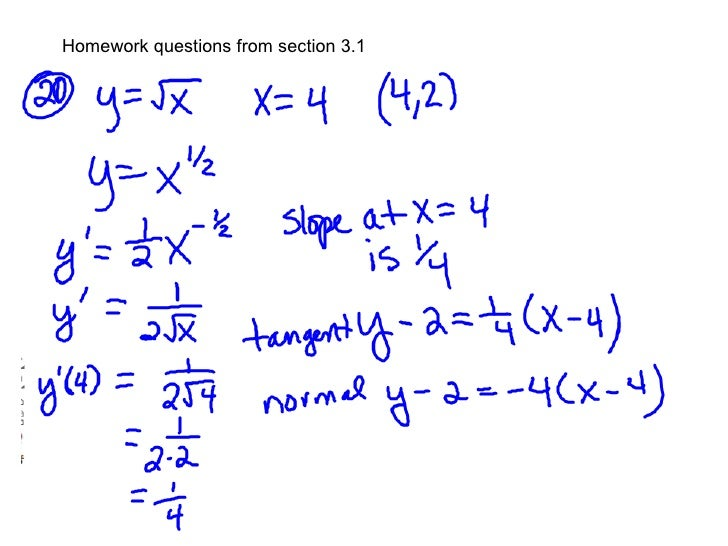 Homework questions from section 3.1