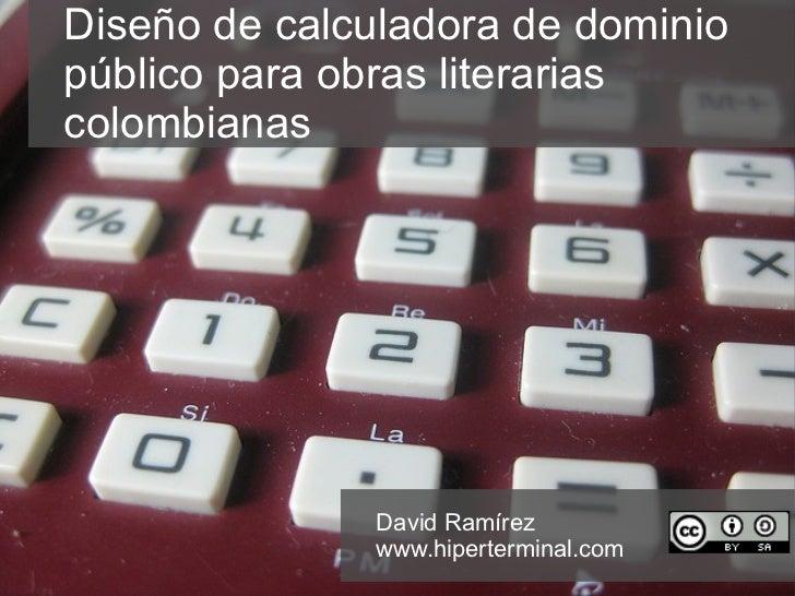 Calculadora de dominio público para obras literarias colombianas