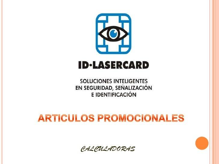 ARTICULOS PROMOCIONALES<br />CALCULADORAS<br />
