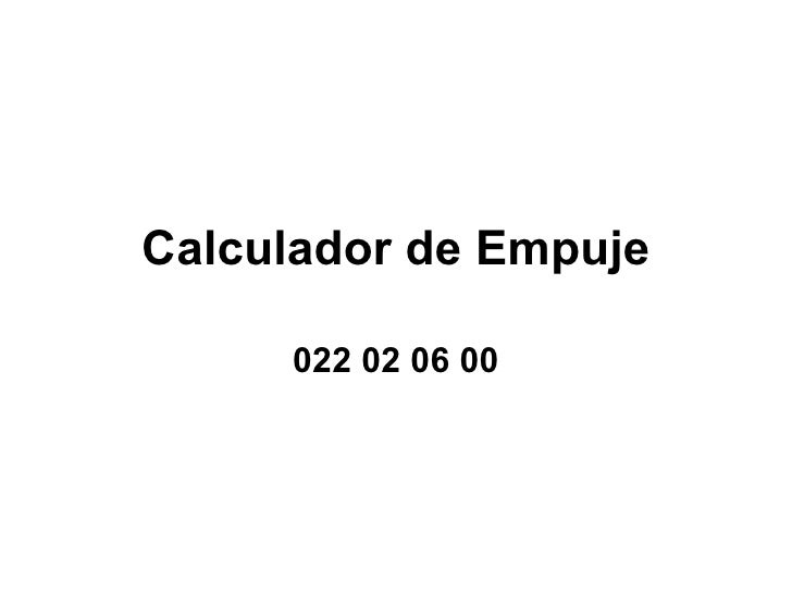 Calculador de Empuje 022 02 06 00