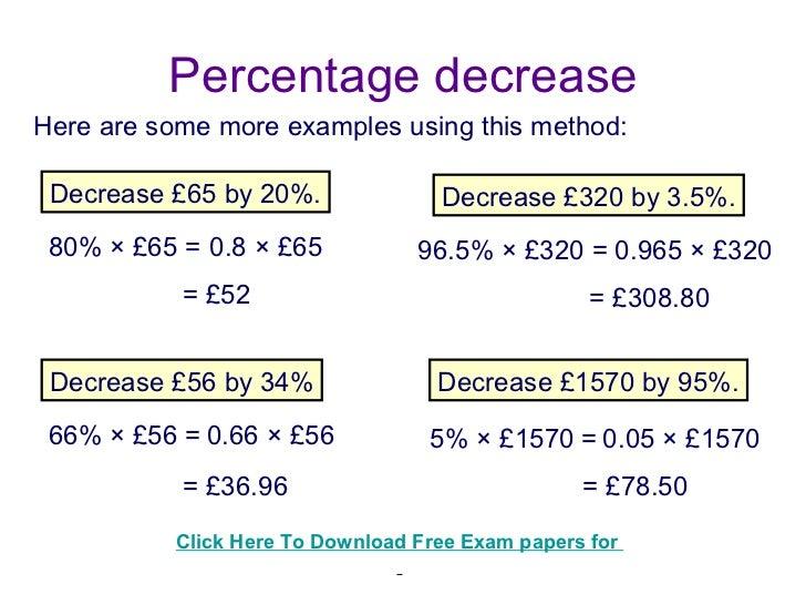 how to calculate percentage return