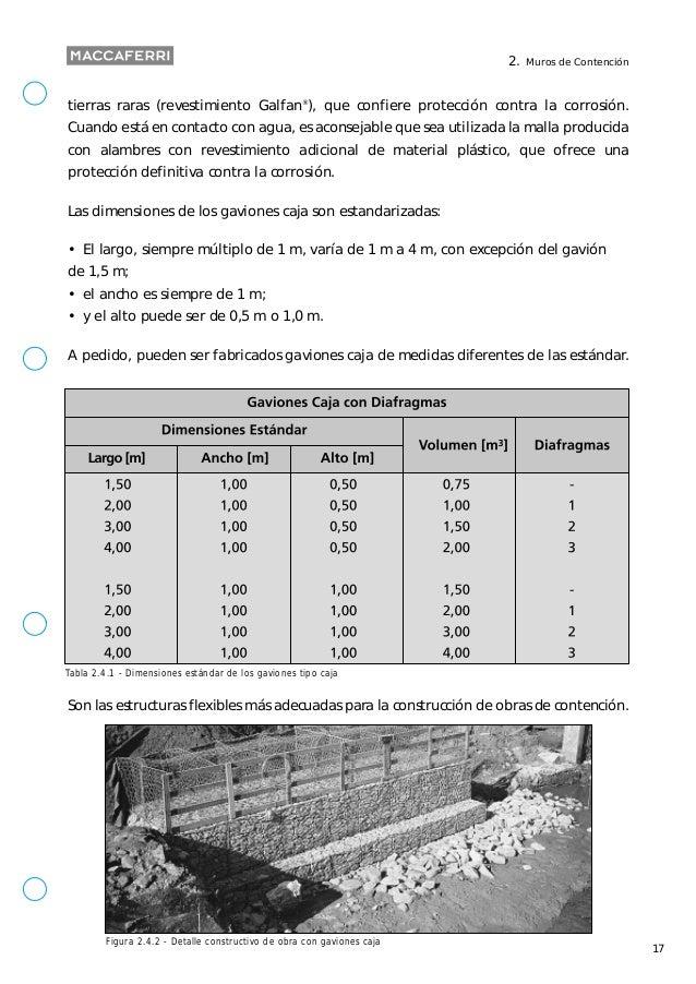 Calculo de muro de gaviones - Muros de gavion ...