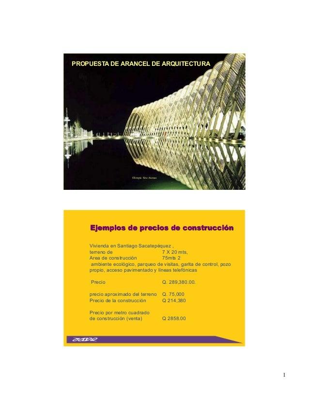 C lculo de arancel de arquitectura - Cuanto cobra un arquitecto ...