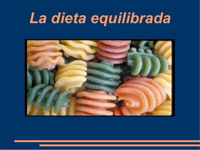 La dieta equilibrada