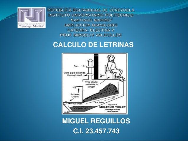 CALCULO DE LETRINAS MIGUEL REGUILLOS C.I. 23.457.743