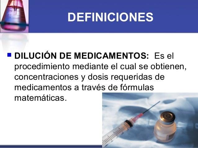 Calculo y dilucion de medicamentos en enfermeria