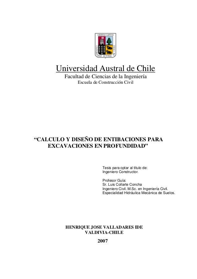 Universidad Austral de Chile Facultad de Ciencias de la Ingeniería Escuela de Construcción Civil Tesis para optar al titul...