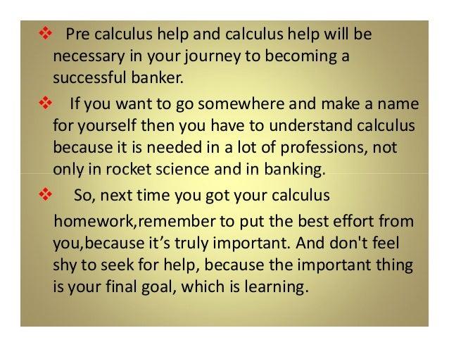 Pre calculus homework help