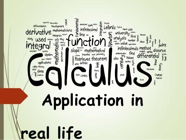 the practical applications of calculus in everday life Overview of applications of differential equations in real life situations  applications of differential equations  free calculus tutorials and problems.