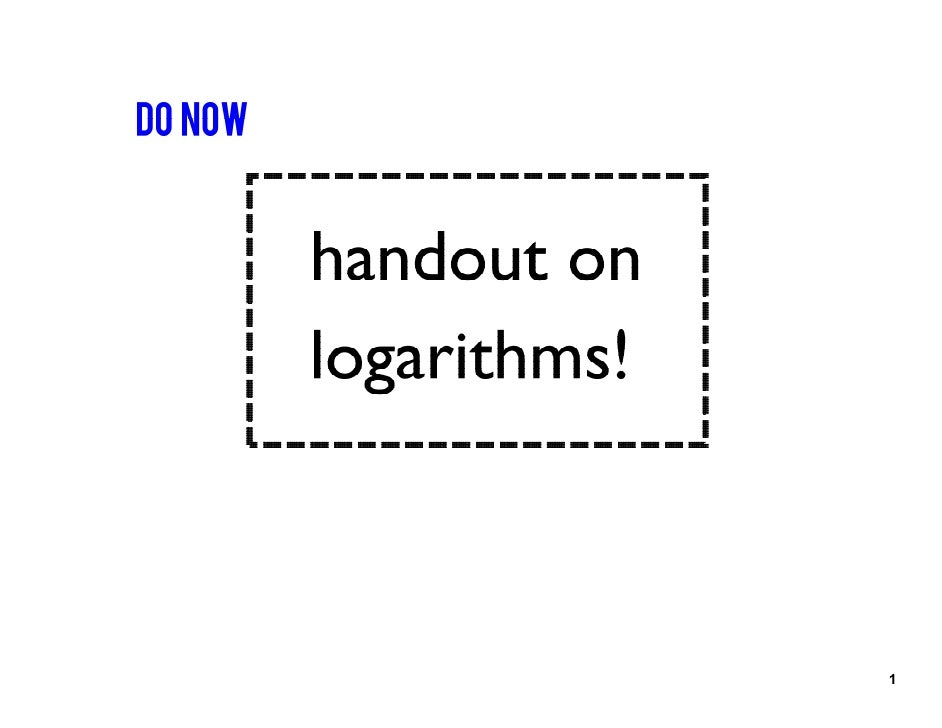 Calculus Logarithmic Differentiation Smartboard