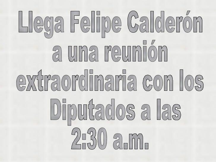Calderon renuncia