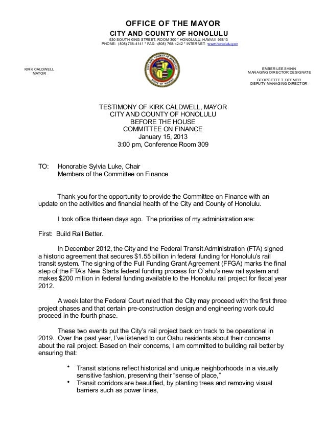 OFFICE OF THE MAYOR                                    CITY AND COUNTY OF HONOLULU                                   530 S...